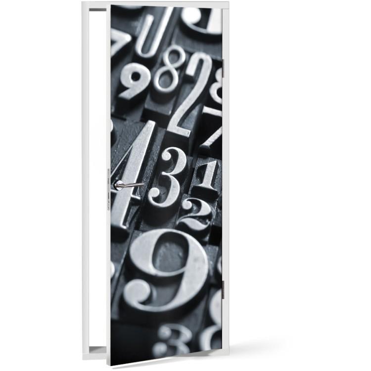 Αυτοκόλλητο Πόρτας 3D αριθμοί
