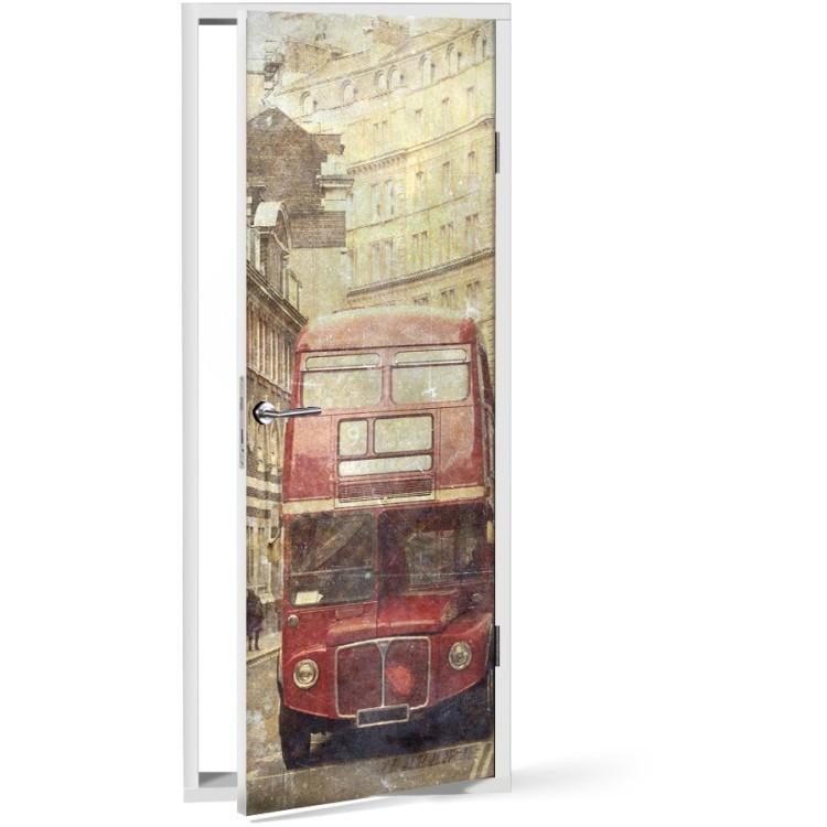 Αυτοκόλλητο Πόρτας Λεωφορείο στο Λονδίνο