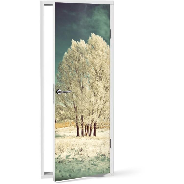 Αυτοκόλλητο Πόρτας Λευκή φύση