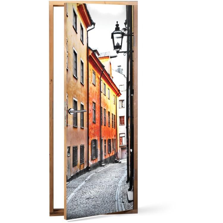 Αυτοκόλλητο Πόρτας Παλιά πόλη, Στοκχόλμη