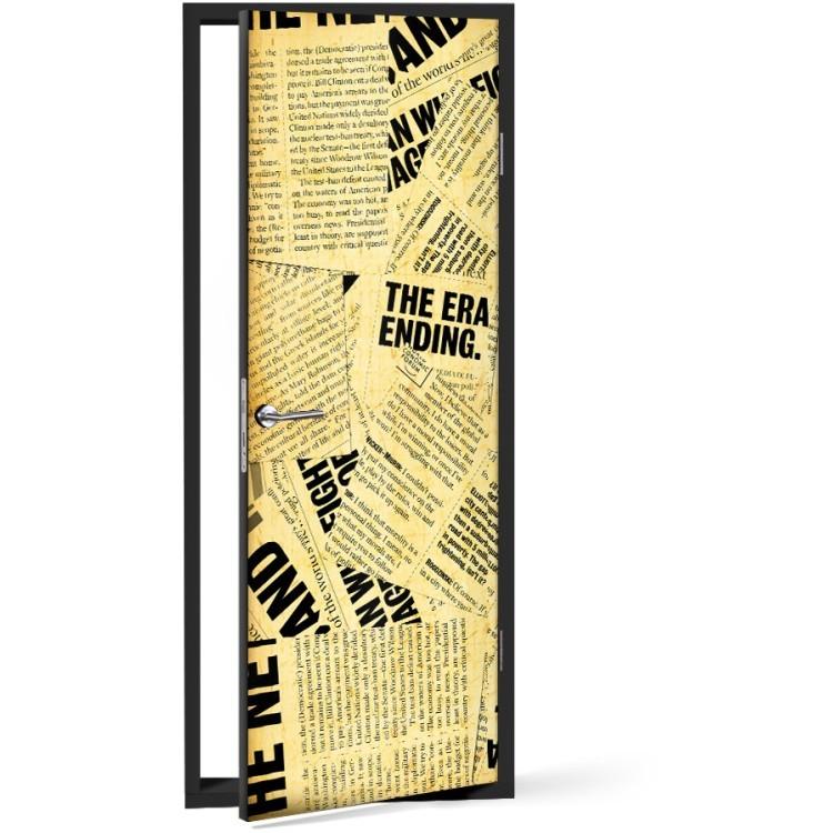 Αυτοκόλλητο Πόρτας Παλιά εφημερίδα