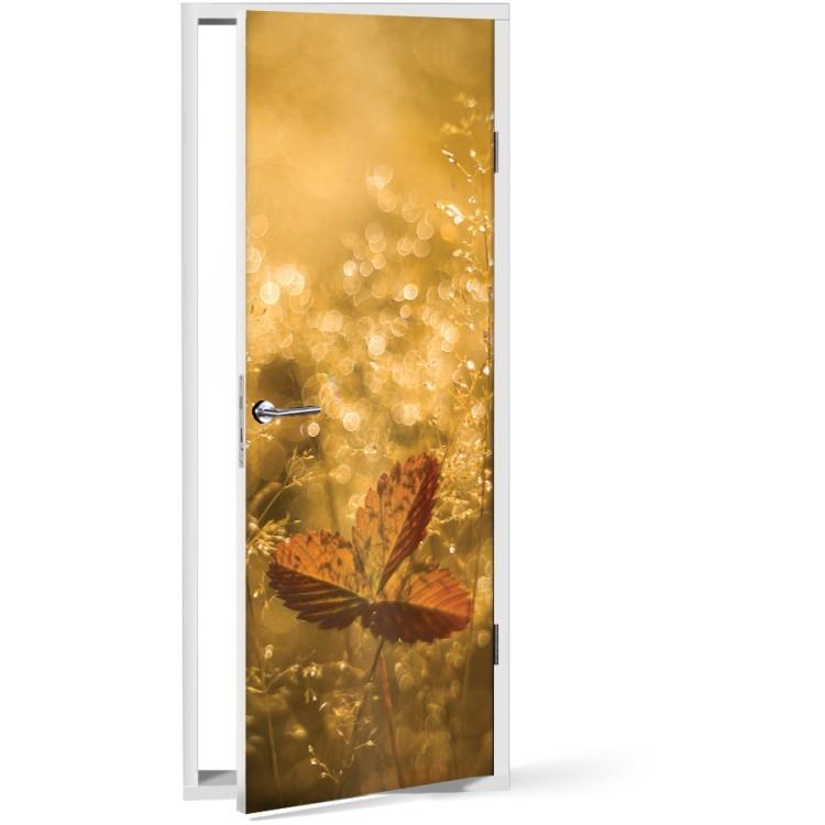 Αυτοκόλλητο Πόρτας Φθινοπωρινό λιβάδι