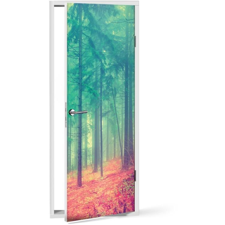 Αυτοκόλλητο Πόρτας Μυστηριώδες δάσος