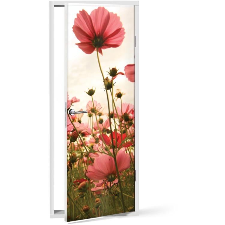 Αυτοκόλλητο Πόρτας Λουλούδια