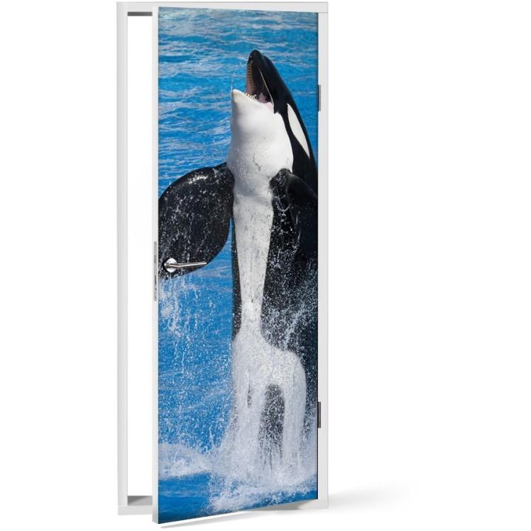 Αυτοκόλλητο Πόρτας Φάλαινα