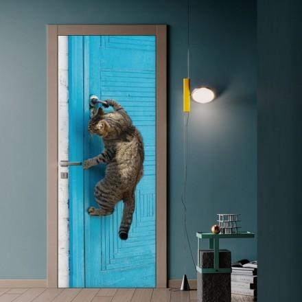 Γάτα φόντο μπλε