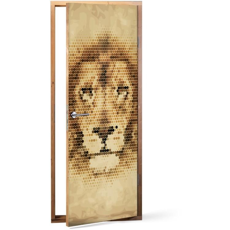 Αυτοκόλλητο Πόρτας Λιοντάρι