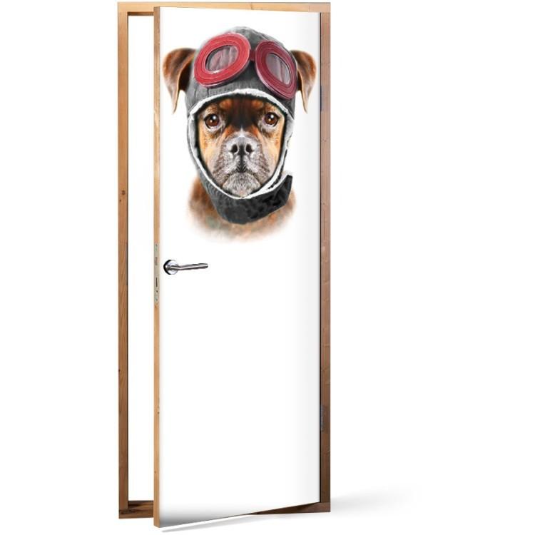 Αυτοκόλλητο Πόρτας Σκύλος πιλότος