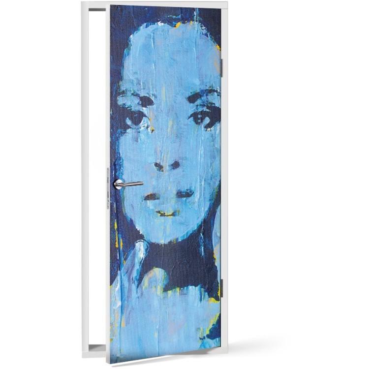 Αυτοκόλλητο Πόρτας Blue Portrait