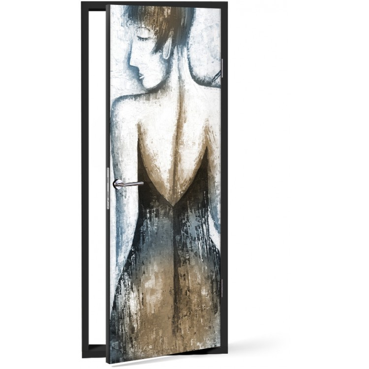 Αυτοκόλλητο Πόρτας Γυναικεία πλάτη