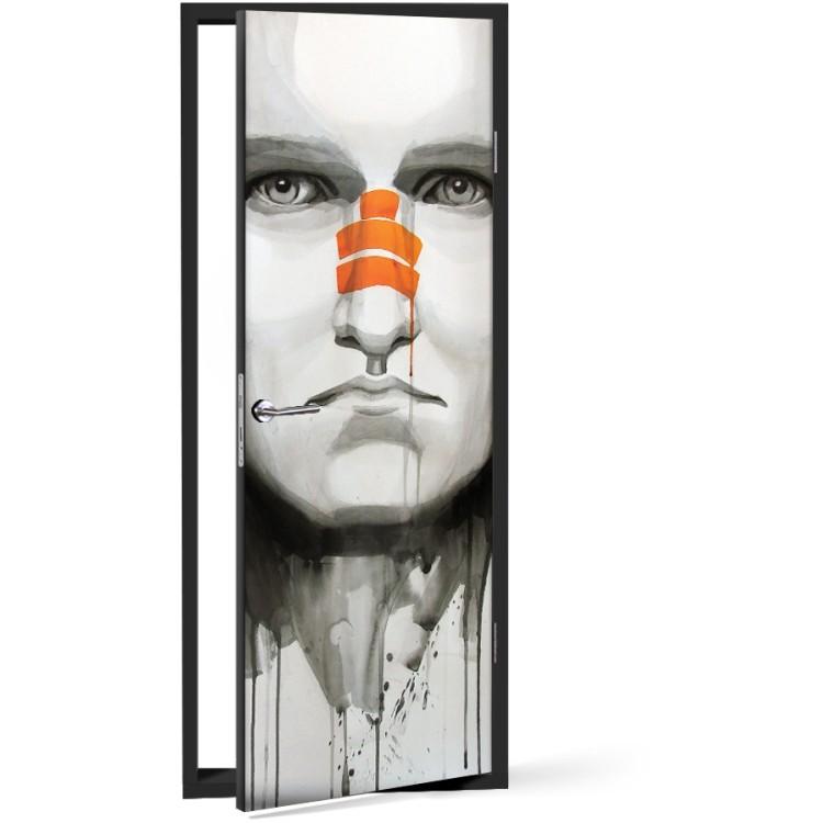 Αυτοκόλλητο Πόρτας Εικονογράφηση νεαρού άνδρα