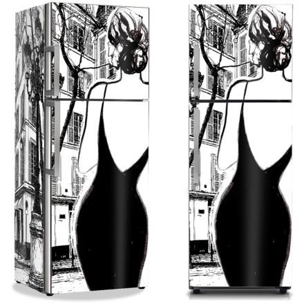 Γυναίκα μαύρο φόρεμα