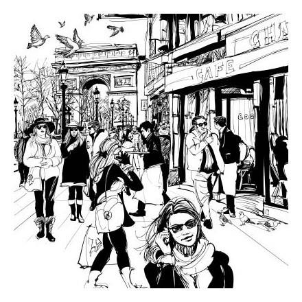 Σκίτσο δρόμου στο Παρίσι