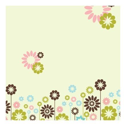 Μοτίβο με γεωμετρικά λουλούδια