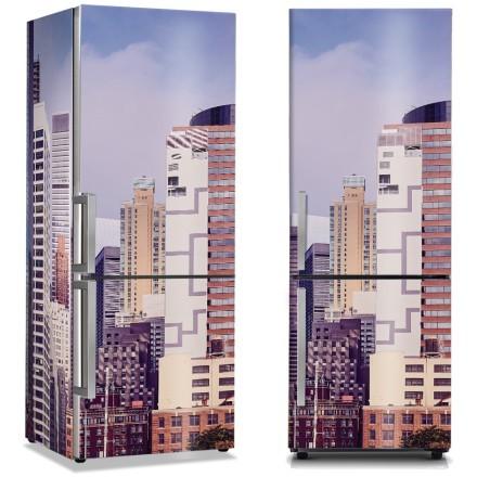 Μοβ τόνοι κτιρίων στη Νέα Υόρκη