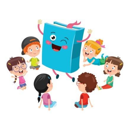 Παιδάκια γύρω από το βιβλίο