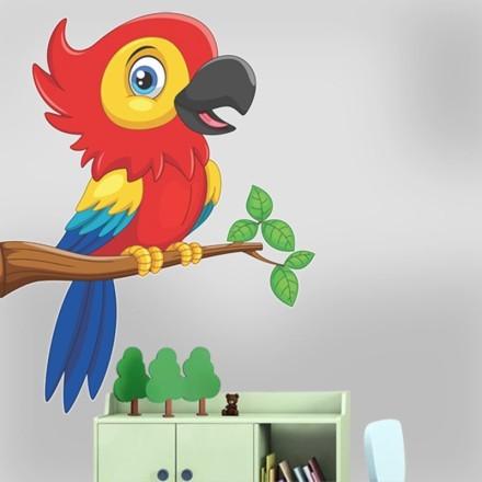 Παπαγάλος σε κλαδί