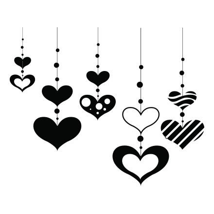 Καρδούλες Κρεμαστές