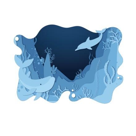 Βυθός με δελφίνια