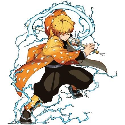 Zenitsu Agatsuma fighting  - Demon Slayer