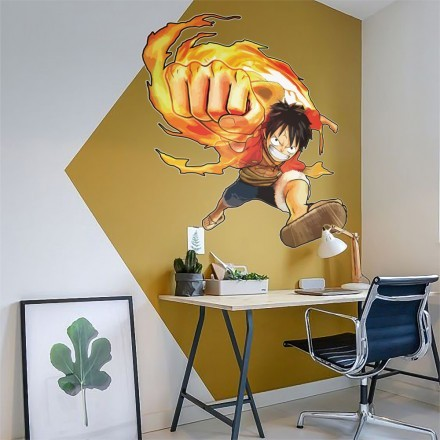 Luffy on fire - One Piece