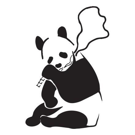 Panda smoking