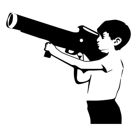Boy with bazoo
