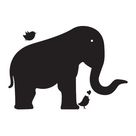 Ελέφαντας με πουλάκι