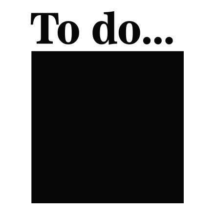 To do..