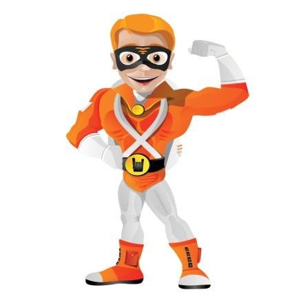 Πορτοκαλί σούπερ ήρωας