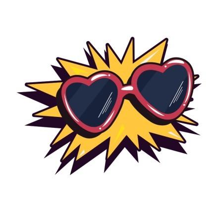 Γυαλιά ηλίου σε σχήμα καρδιάς