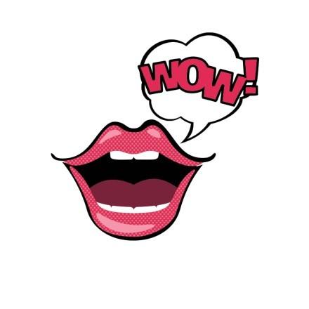 Κόκκινα χείλη WOW