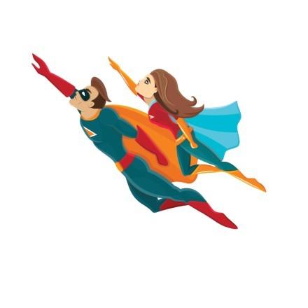Ζευγάρι super ηρώων