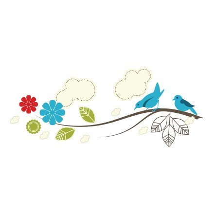Κρεμάστρα κλαδί με πουλάκια