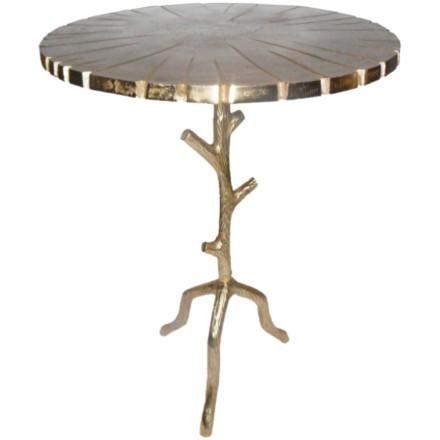 BIZARRE SIDE TABLE ΧΡΥΣΟ D45xH64cm