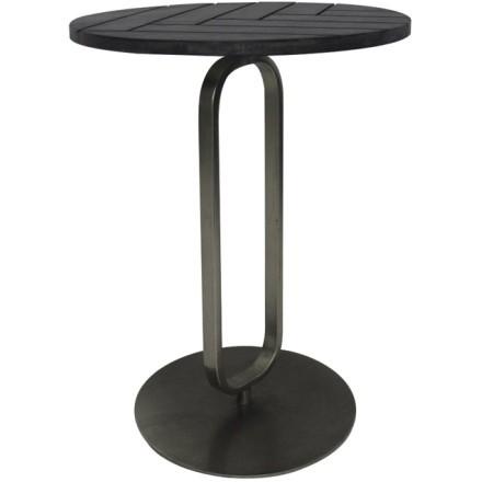CLIP SIDE TABLE BRASS ANTIQUE D40xH50cm