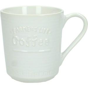 COFFEE ΚΟΥΠΑ ΚΕΡΑΜΙΚΗ ΛΕΥΚΗ 11x8xΥ8.7cm, ΚΟΥΠΕΣ, Maison