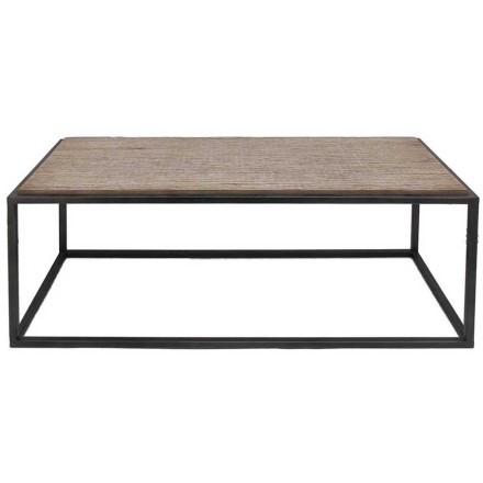 DARK COFFEE TABLE ΦΥΣΙΚΟ ΜΑΥΡΟ 104x43,5xH41cm