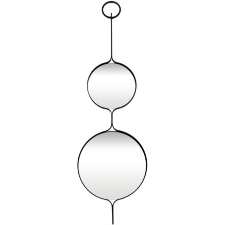 DOUBLE CICLO ΚΑΘΡΕΠΤΗΣ ΜΑΥΡΟ 31x1,8xH106cm
