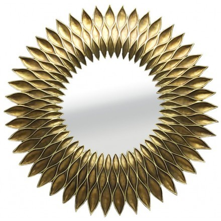 GIRASOL ΚΑΘΡΕΠΤΗΣ ΧΡΥΣΟ ANTIQUE D51x5,5cm
