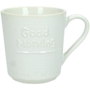 GOOD MORNING ΚΟΥΠΑ ΚΕΡΑΜΙΚΗ ΛΕΥΚΗ 11x8xΥ8.7cm, ΚΟΥΠΕΣ, Maison