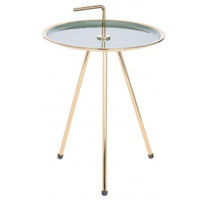 INDEX SIDE TABLE ΜΕΤΑΛΛΙΚΟ ΜΕΝΤΑ/ΧΡΥΣΟ Δ43xY43cm, COFFEE TABLES, Maison