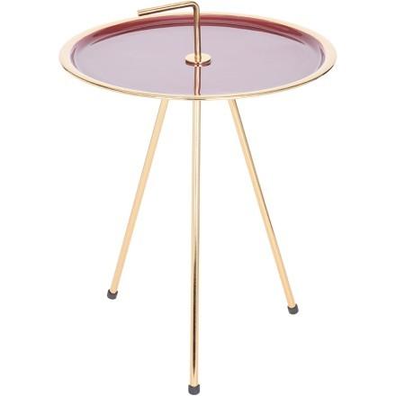 INDEX SIDE TABLE ΧΡΥΣΟ/ΚΟΚΚΙΝΟ Δ42xΥ57,5cm
