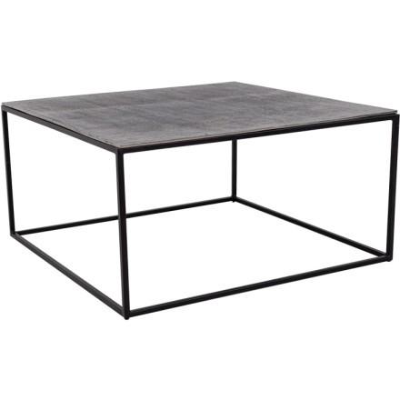 KARRE COFFEE TABLE NICKEL ANTIQUE ΜΑΥΡΟ 70x70xH35cm
