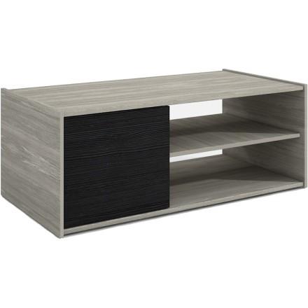 LA VIE COFFEE TABLE ΓΚΡΙ OAK BLACK OAK 110x55xH42cm