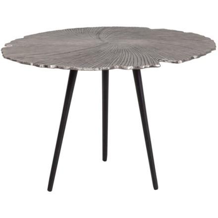 LEAF 60 SIDE TABLE NICKEL ΜΑΥΡΟ D60xH41cm