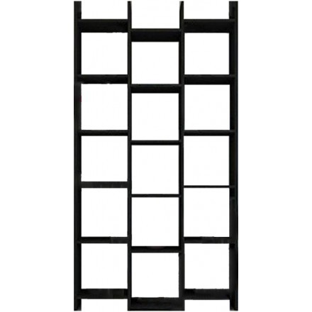 LEVEL ΒΙΒΛΙΟΘΗΚΗ BLACK OAK 96x25xH186cm