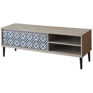 MINO TV STAND SONOMA ΜΕ PATTERN 133,5x35xH45cm, TV-STANDS, Maison