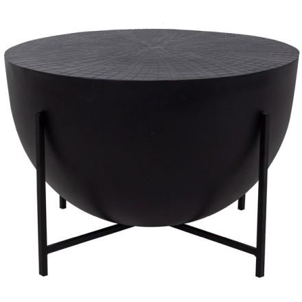 MONTANA COFFEE TABLE ΜΑΥΡΟ ΜΑΥΡΟ D56xH38cm