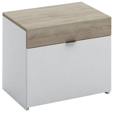 MY BOX ΚΟΜΟΔΙΝΟ SONOMA ΣΚΟΥΡΟ ΛΕΥΚΟ HIGH GLOSS 50x36xH43cm